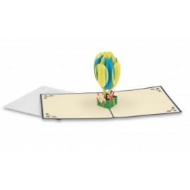 Biglietti Origami MONGOLFIERA