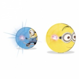 PALLE FLASH BALL MINIONS C/LUCE diam.14cm