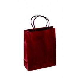 Shopper Portabottiglia SETA BORDEAUX 1 bottiglia 10x90x38cm